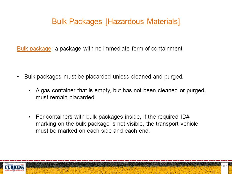 Bulk Packages [Hazardous Materials]